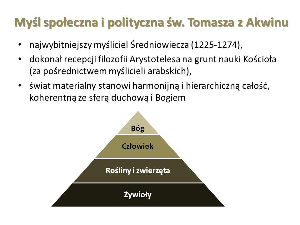 Myśl społeczna i polityczna św. Tomasza z Akwinu