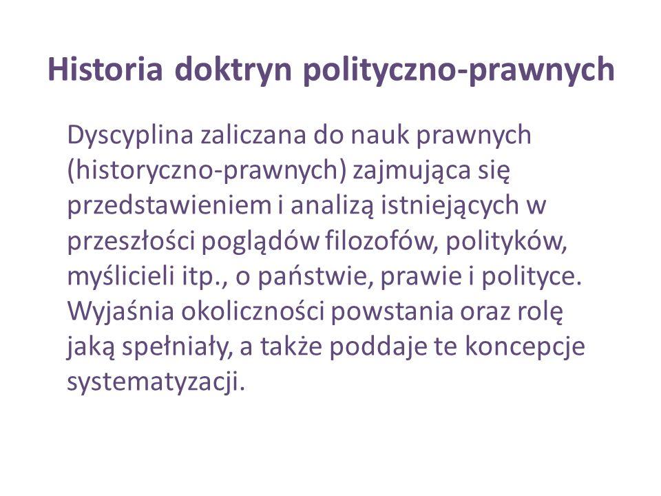 Historia doktryn polityczno-prawnych