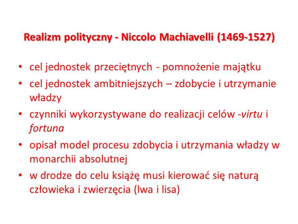 Realizm polityczny - Niccolo Machiavelli (1469-1527)