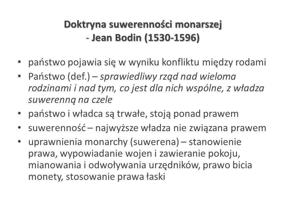 Doktryna suwerenności monarszej - Jean Bodin (1530-1596)