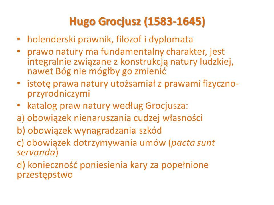 Hugo Grocjusz (1583-1645) holenderski prawnik, filozof i dyplomata
