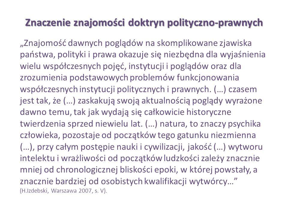 Znaczenie znajomości doktryn polityczno-prawnych