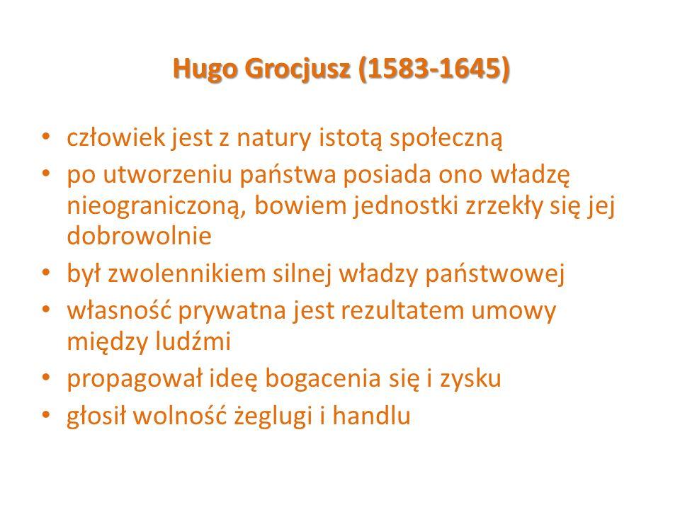 Hugo Grocjusz (1583-1645) człowiek jest z natury istotą społeczną