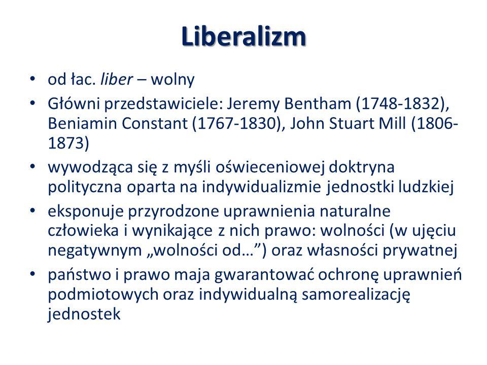 Liberalizm od łac. liber – wolny