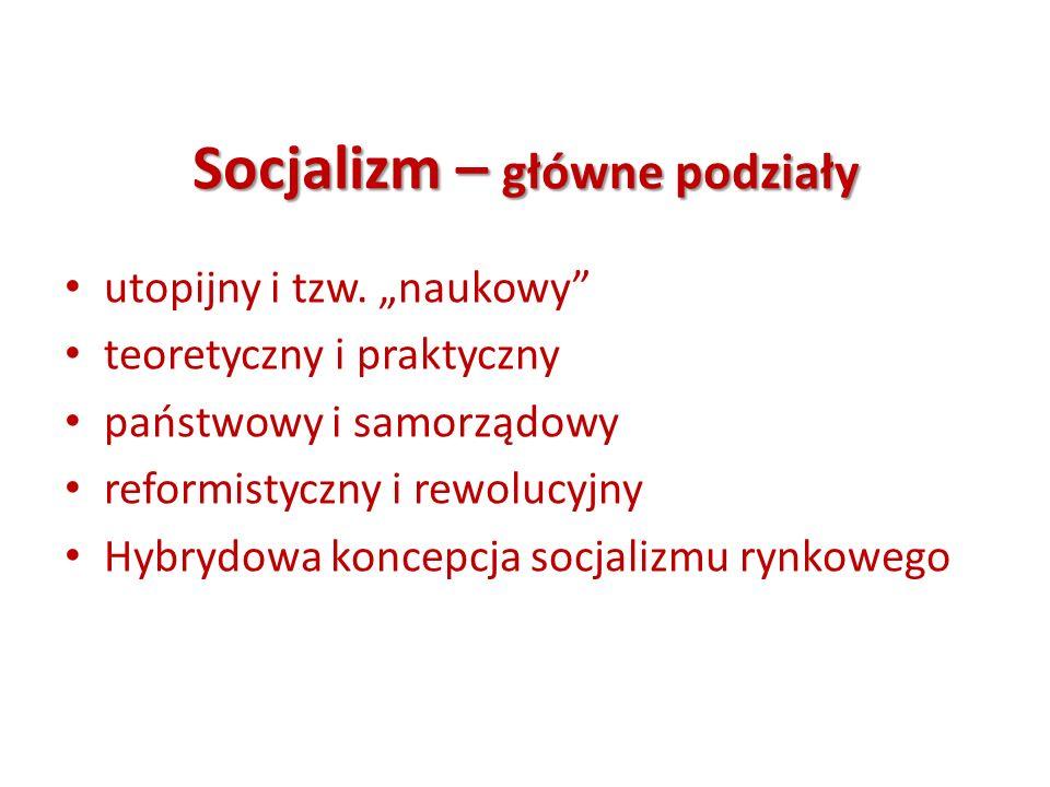 Socjalizm – główne podziały
