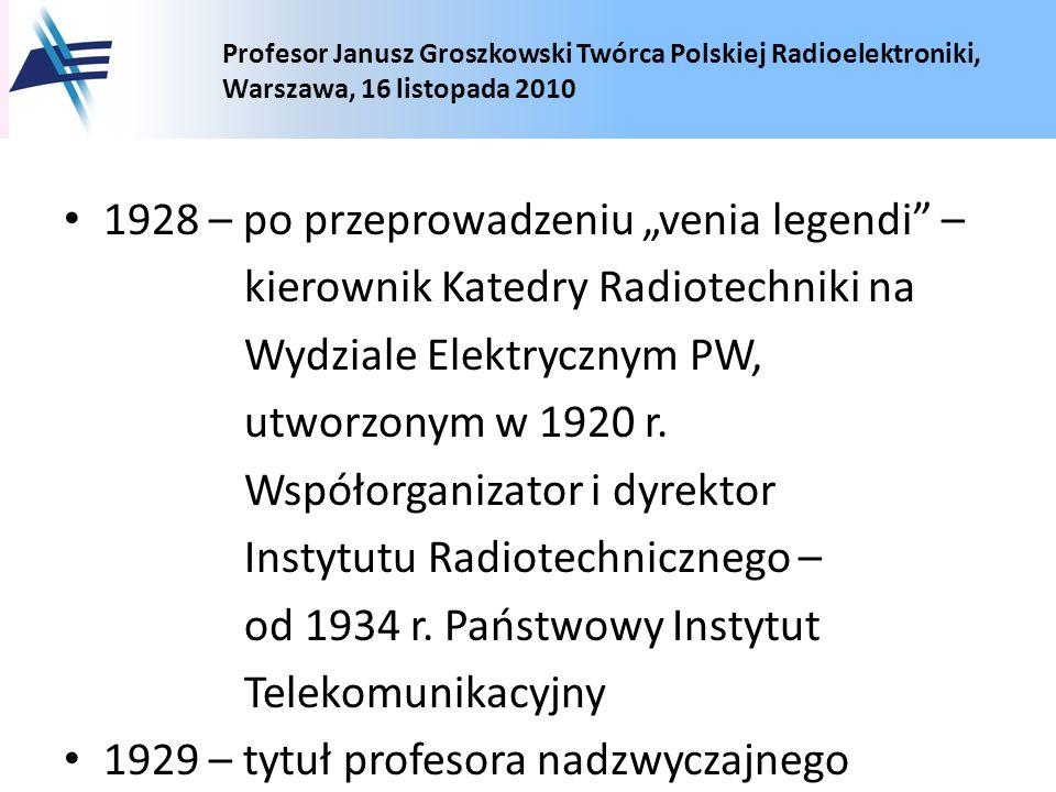 """1928 – po przeprowadzeniu """"venia legendi –"""