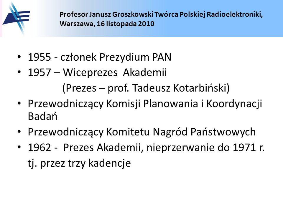 1955 - członek Prezydium PAN