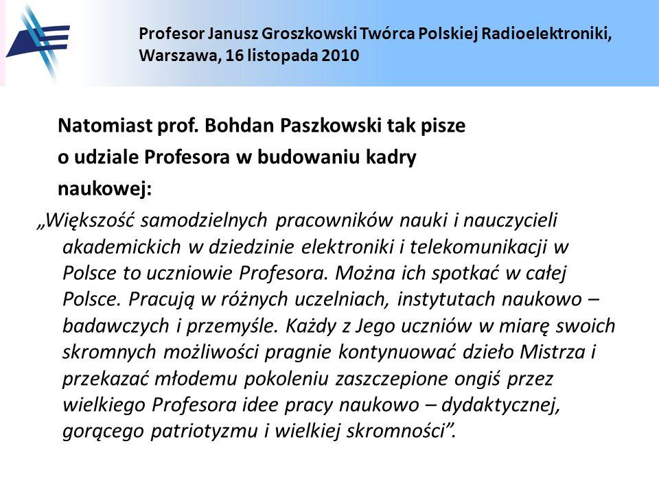Natomiast prof.
