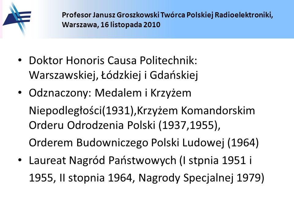 Doktor Honoris Causa Politechnik: Warszawskiej, Łódzkiej i Gdańskiej