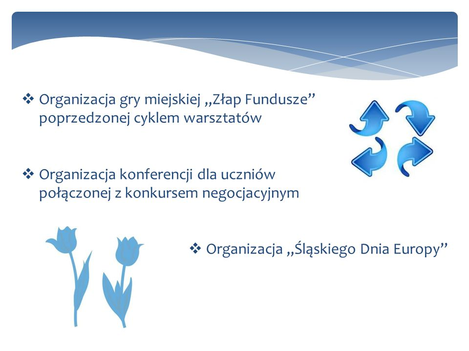 """Organizacja gry miejskiej """"Złap Fundusze poprzedzonej cyklem warsztatów"""