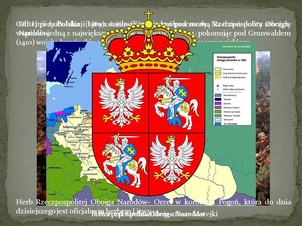 Bitwa pod Grunwaldem- obraz Matejki Rzeczpospolita Obojga Narodów
