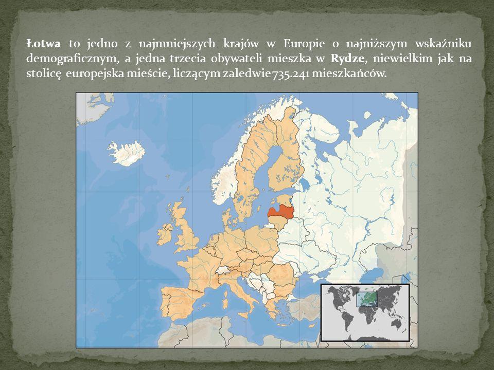 Łotwa to jedno z najmniejszych krajów w Europie o najniższym wskaźniku demograficznym, a jedna trzecia obywateli mieszka w Rydze, niewielkim jak na stolicę europejska mieście, liczącym zaledwie 735.241 mieszkańców.