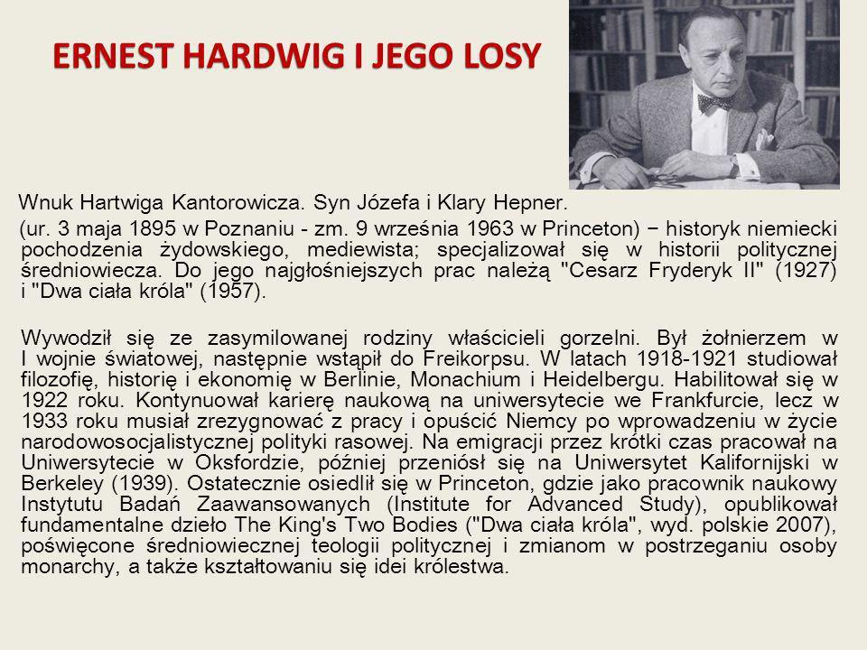 ERNEST HARDWIG I JEGO LOSY