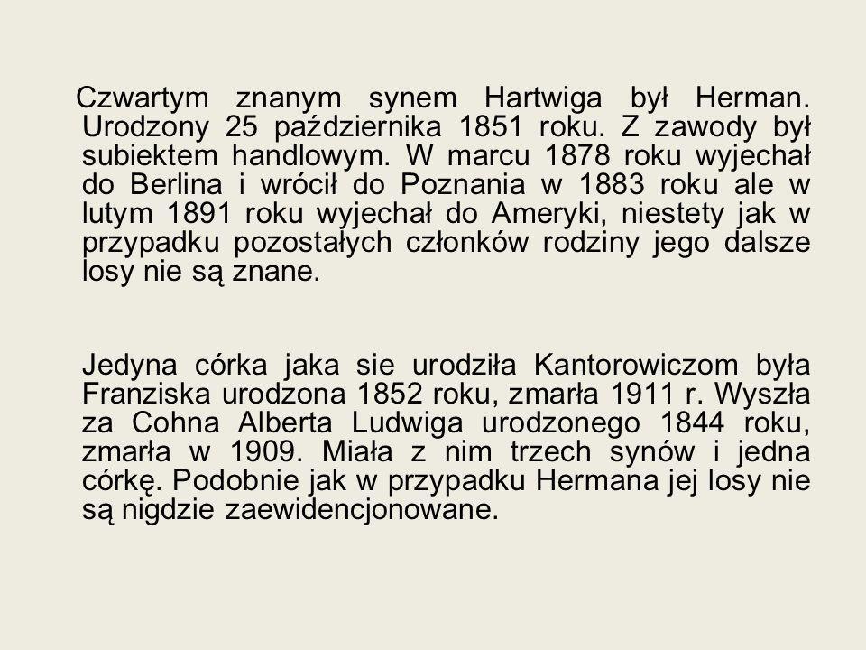 Czwartym znanym synem Hartwiga był Herman