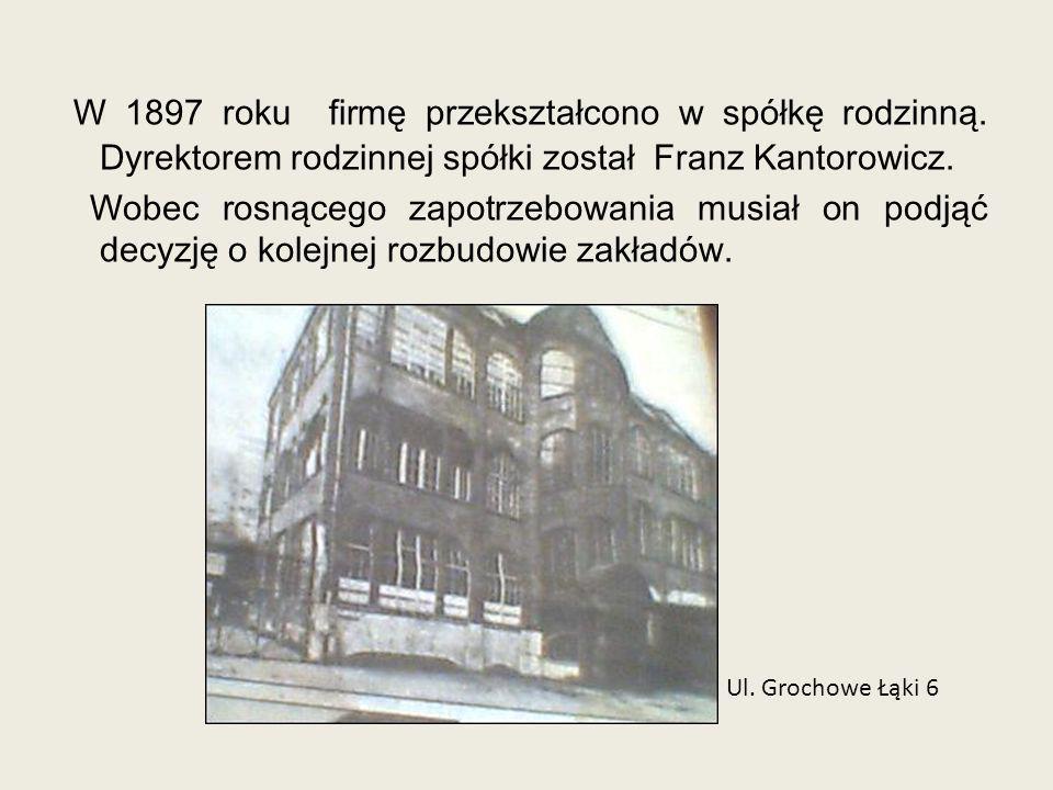 W 1897 roku firmę przekształcono w spółkę rodzinną