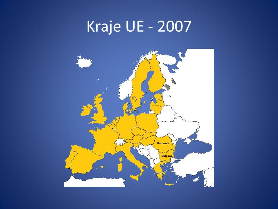 Kraje UE - 2007