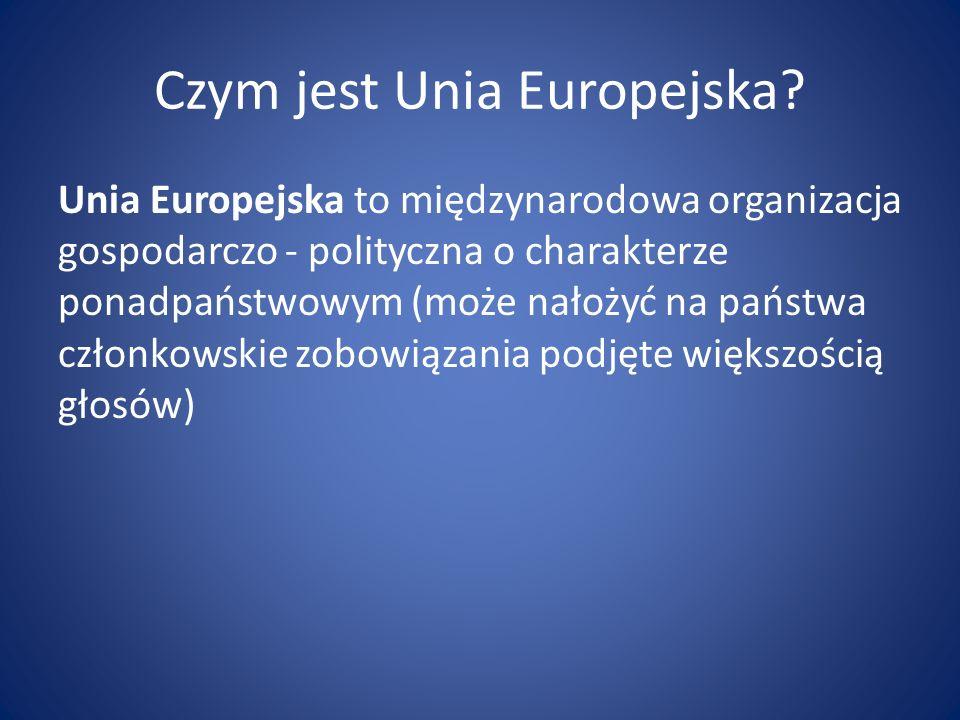 Czym jest Unia Europejska