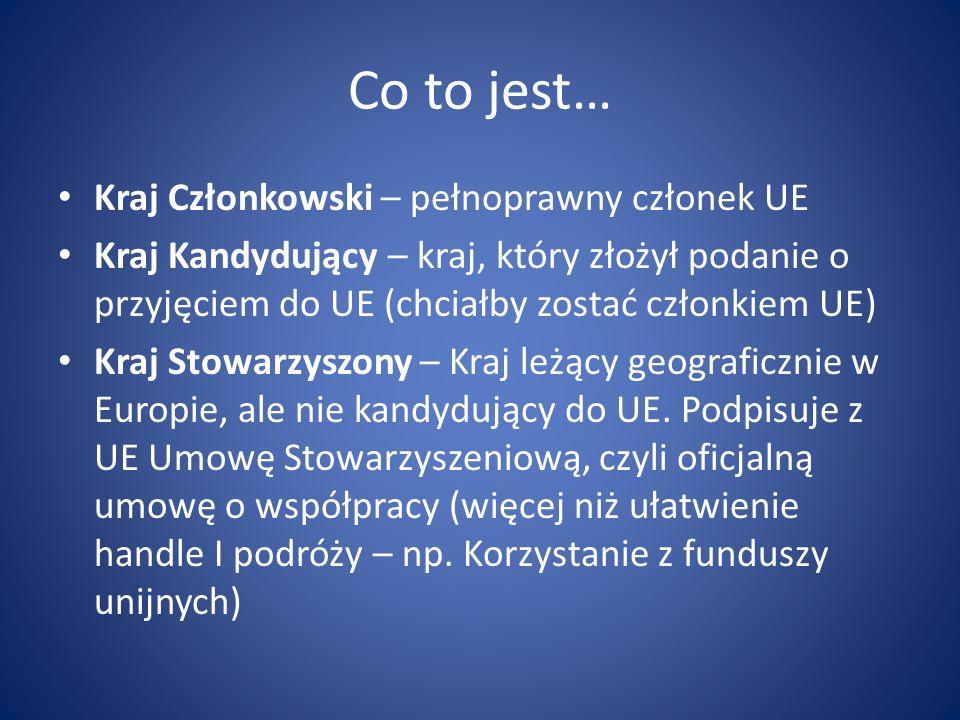 Co to jest… Kraj Członkowski – pełnoprawny członek UE