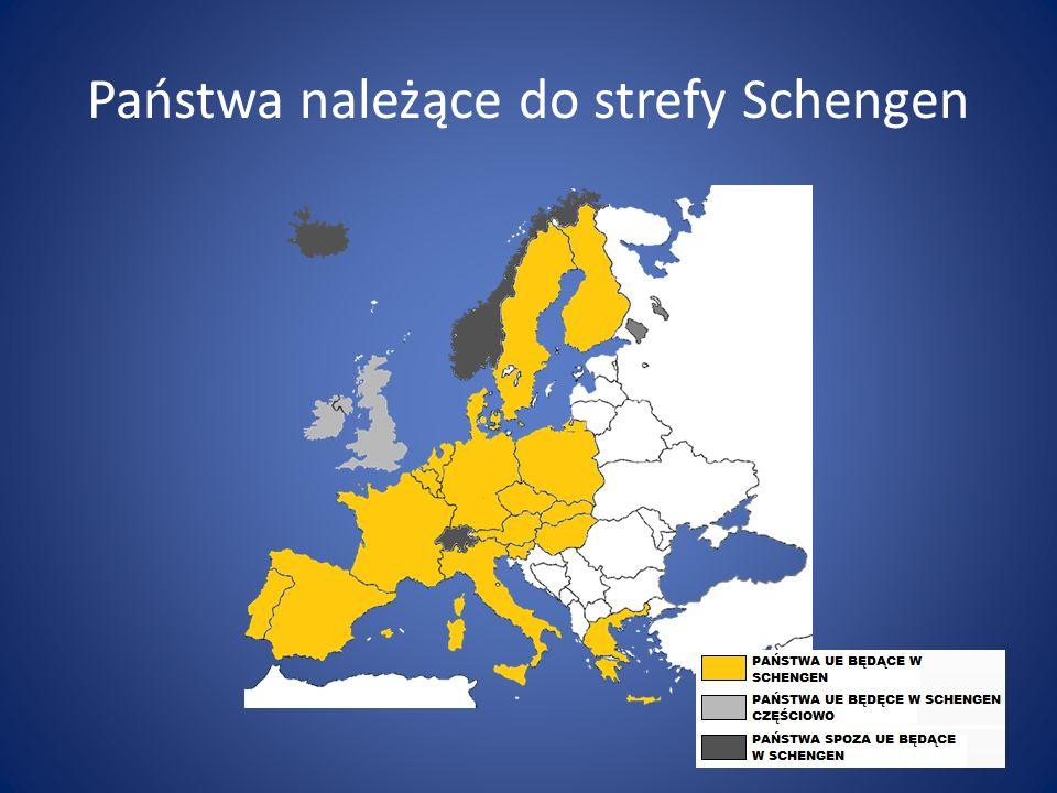Państwa należące do strefy Schengen