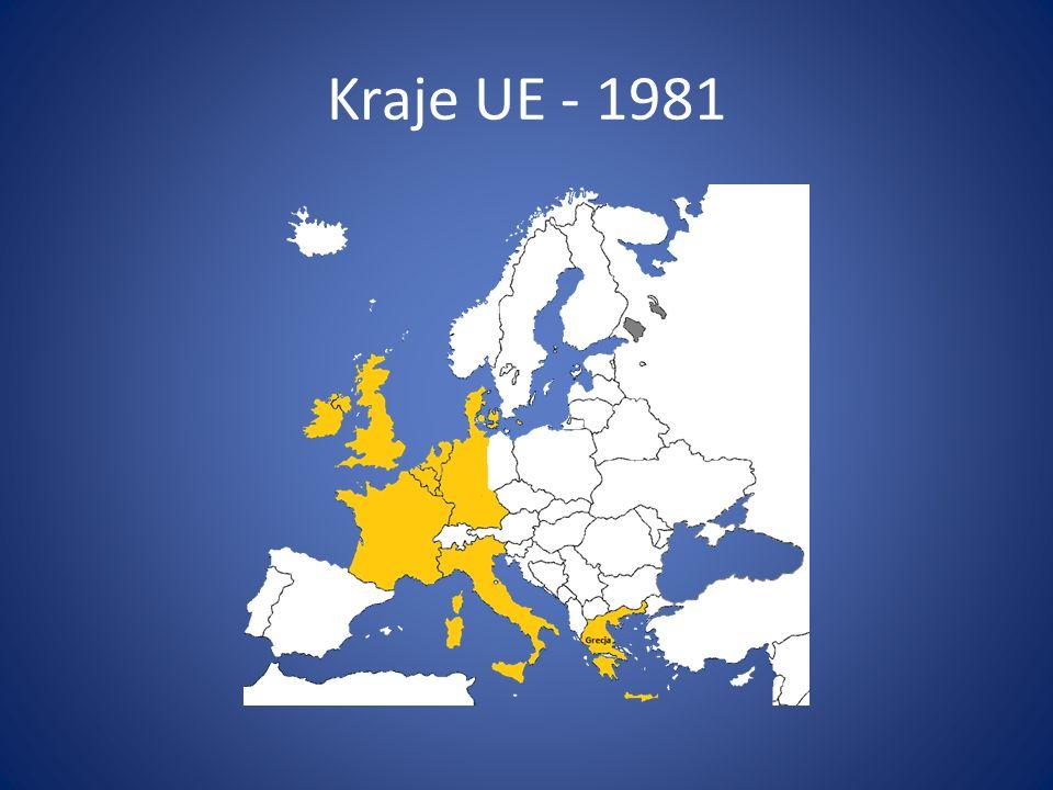 Kraje UE - 1981