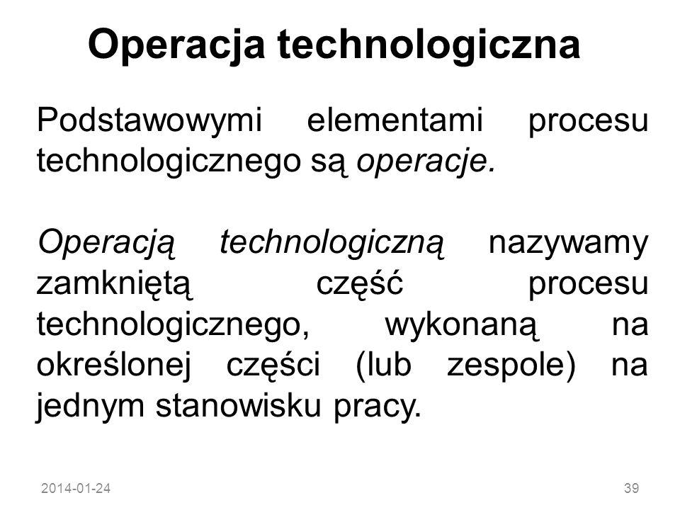 Operacja technologiczna