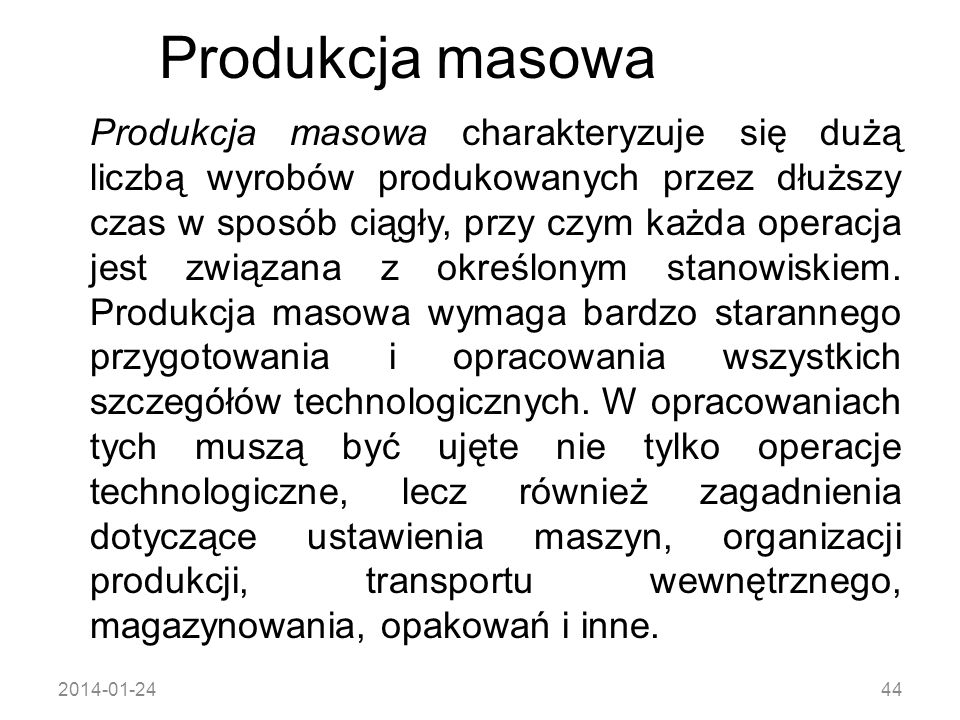 Produkcja masowa
