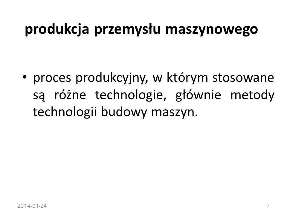 produkcja przemysłu maszynowego