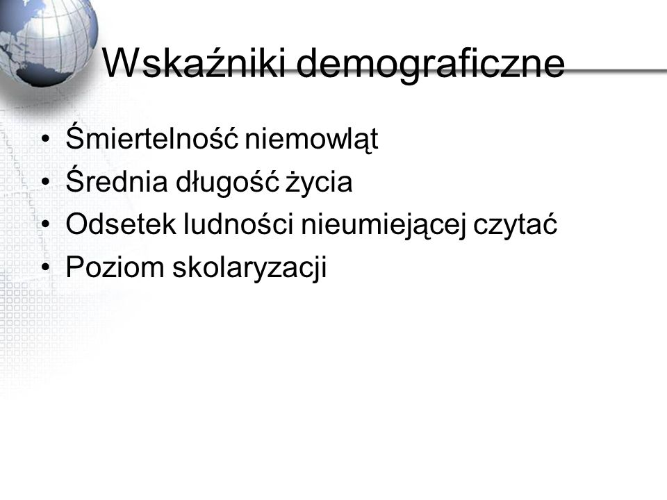 Wskaźniki demograficzne