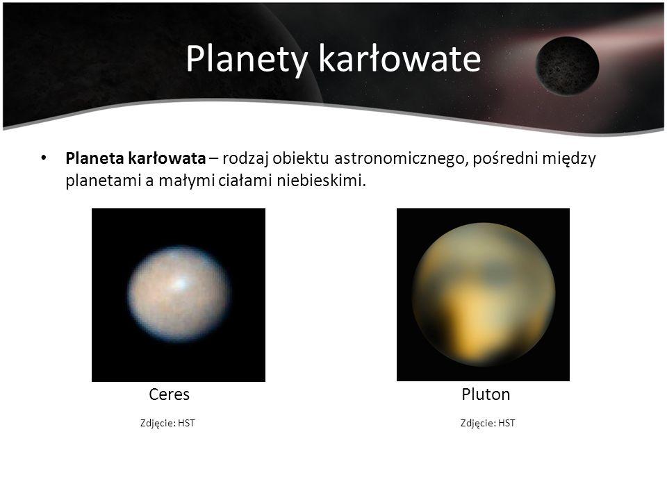 Planety karłowate Planeta karłowata – rodzaj obiektu astronomicznego, pośredni między planetami a małymi ciałami niebieskimi.