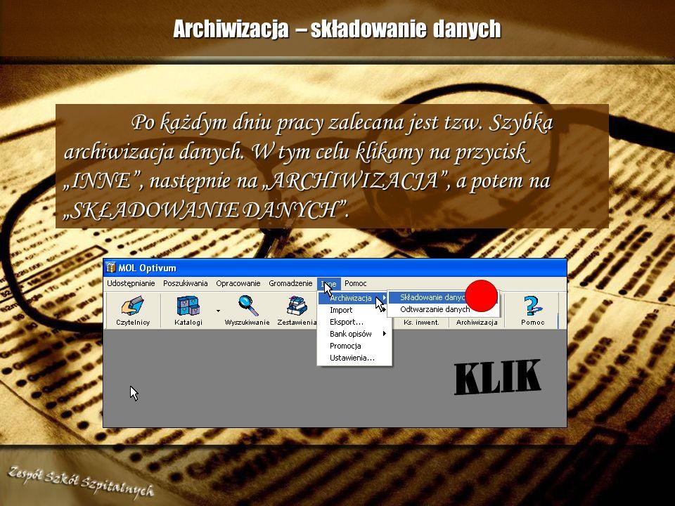 Archiwizacja – składowanie danych
