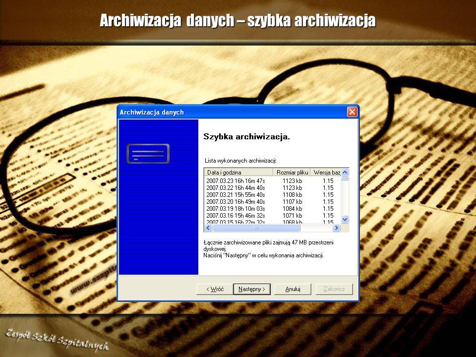 Archiwizacja danych – szybka archiwizacja