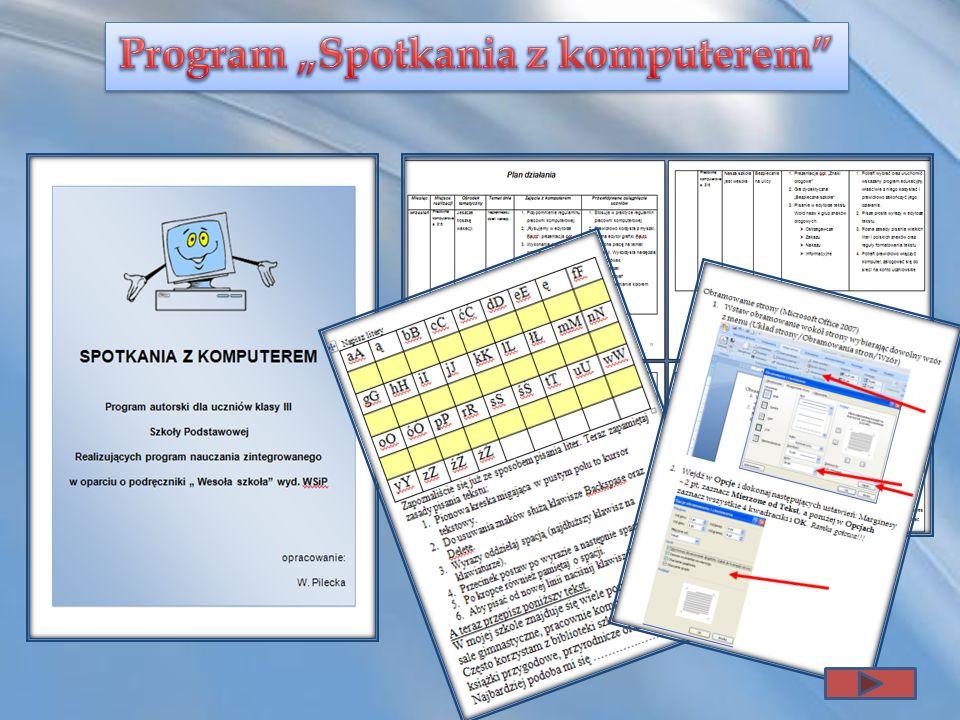 """Program """"Spotkania z komputerem"""