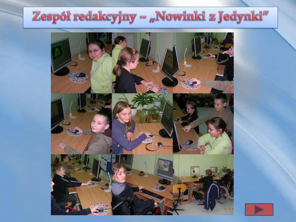 """Zespół redakcyjny – """"Nowinki z Jedynki"""