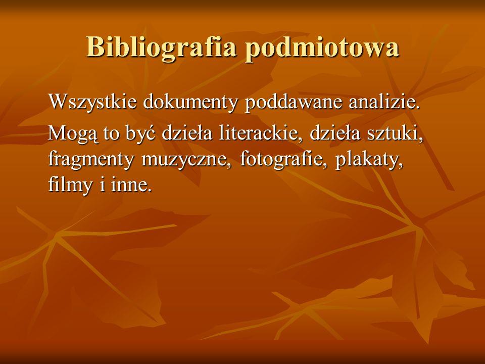 Bibliografia podmiotowa