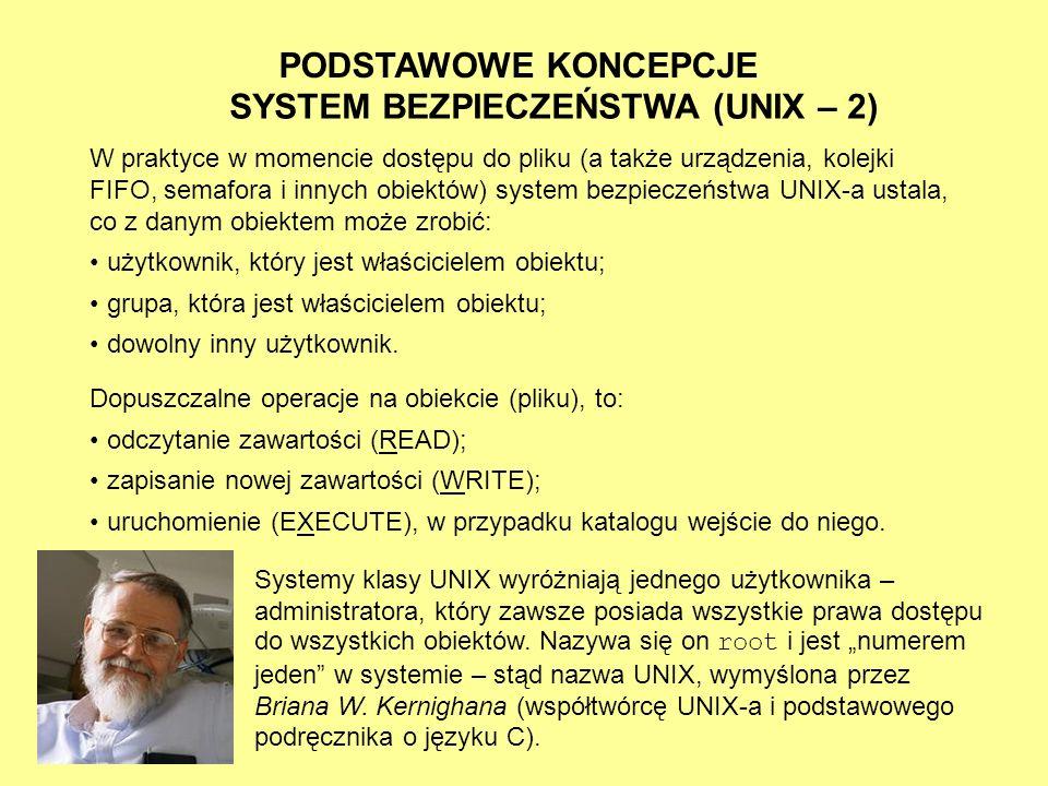 SYSTEM BEZPIECZEŃSTWA (UNIX – 2)