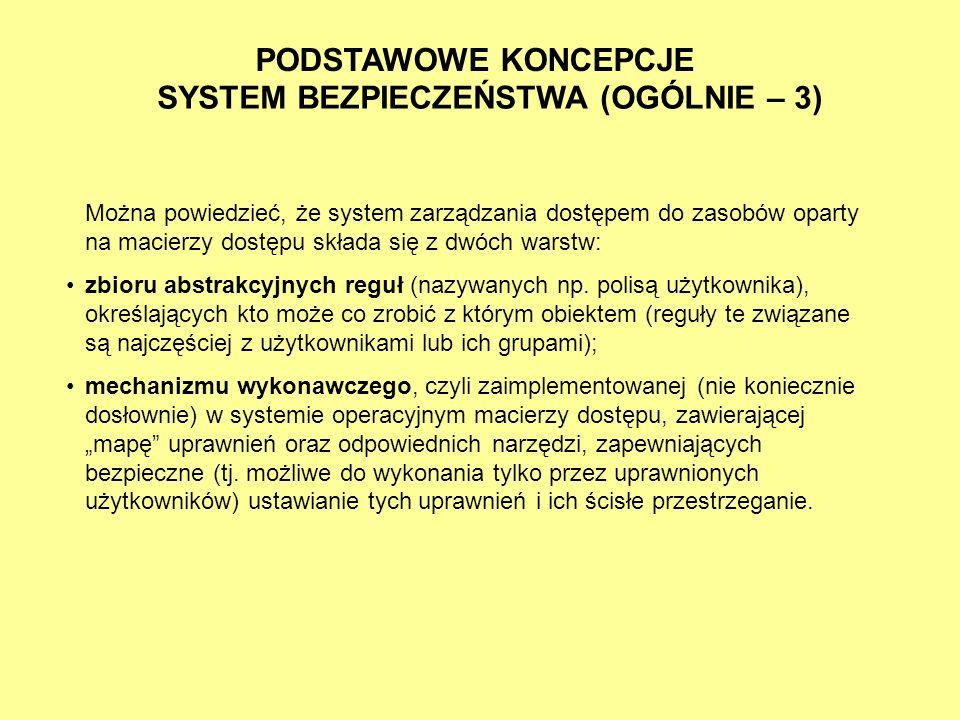 SYSTEM BEZPIECZEŃSTWA (OGÓLNIE – 3)