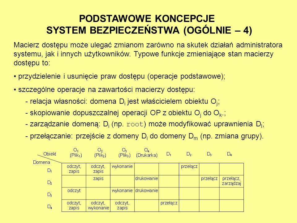 SYSTEM BEZPIECZEŃSTWA (OGÓLNIE – 4)