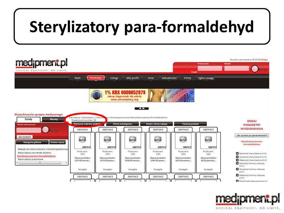 Sterylizatory para-formaldehyd