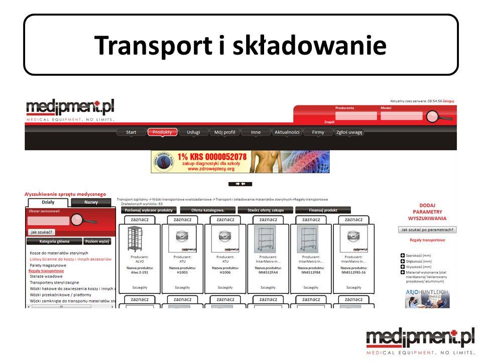 Transport i składowanie