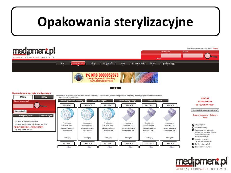 Opakowania sterylizacyjne