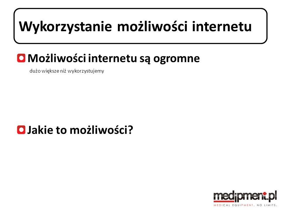 Wykorzystanie możliwości internetu