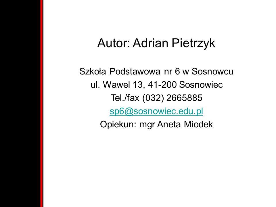 Autor: Adrian Pietrzyk