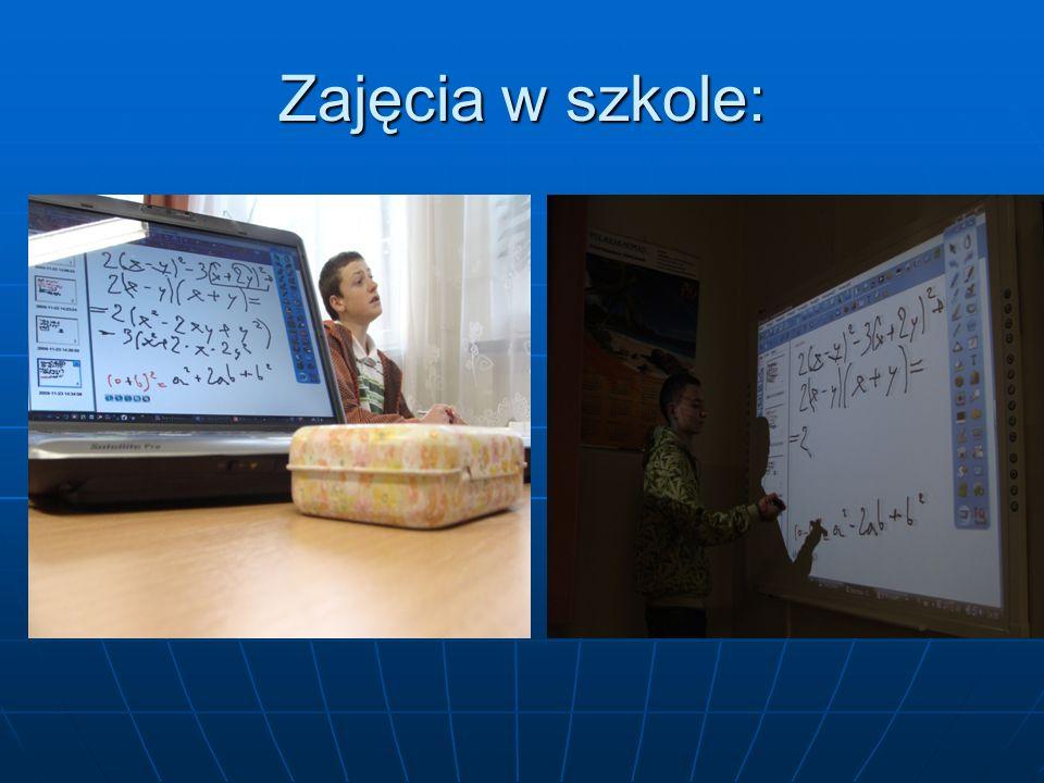 Zajęcia w szkole: