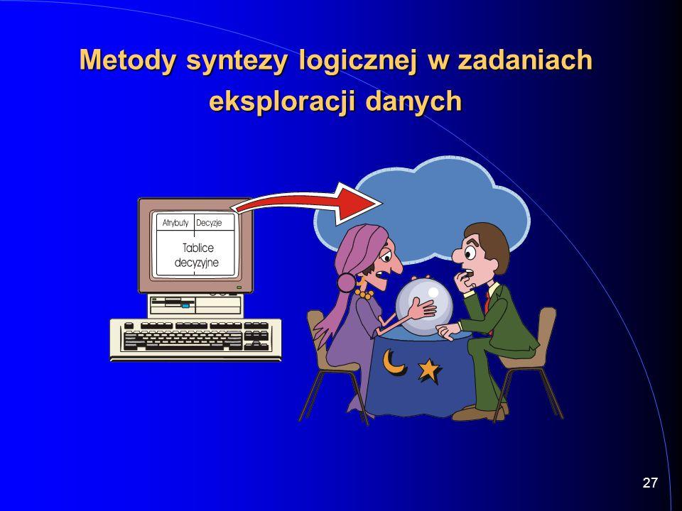 Metody syntezy logicznej w zadaniach eksploracji danych