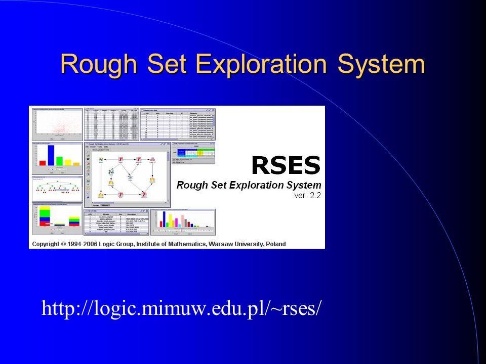 Rough Set Exploration System