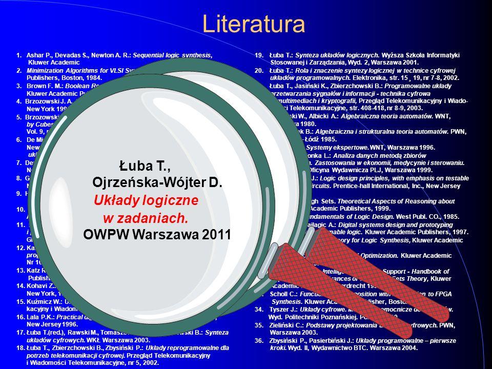 Literatura Ashar P., Devadas S., Newton A. R.: Sequential logic synthesis, Kluwer Academic.