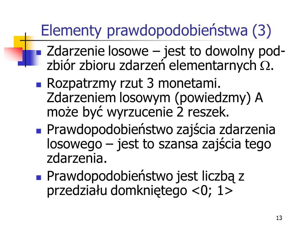 Elementy prawdopodobieństwa (3)