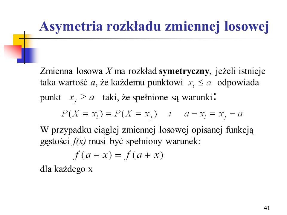 Asymetria rozkładu zmiennej losowej