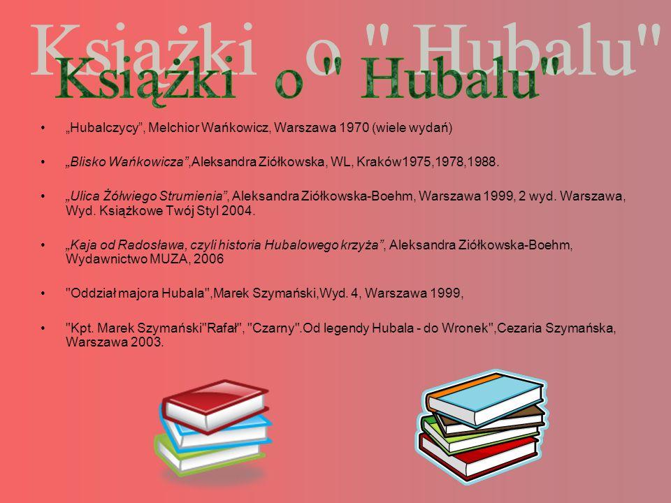 """Książki o Hubalu """"Hubalczycy , Melchior Wańkowicz, Warszawa 1970 (wiele wydań)"""