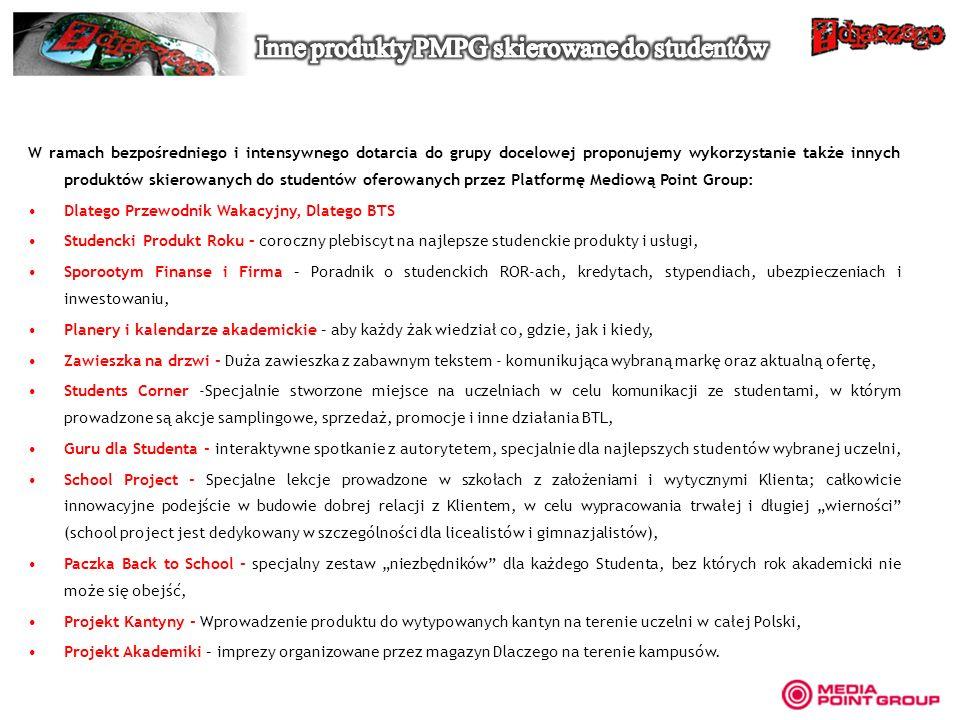 Inne produkty PMPG skierowane do studentów